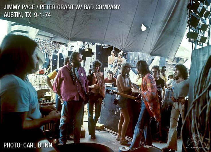 1974-09-01 Peter Grant Jimmy Page Bad Company Austin Texas