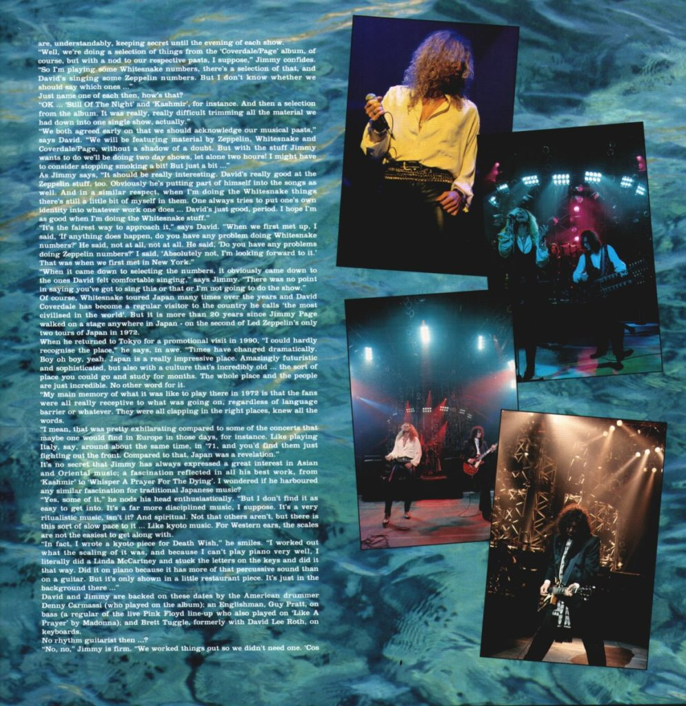 Coverdale-Page Japan Toorbook 1993 - 06
