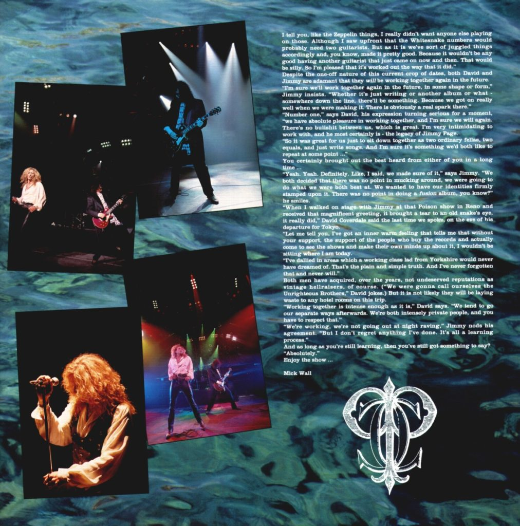 Coverdale-Page Japan Toorbook 1993 - 07