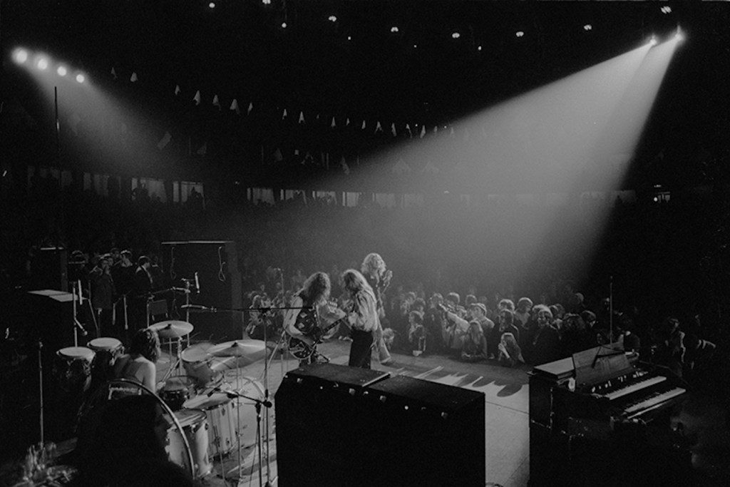 Led Zeppelin performing at the Royal Albert Hall in London on January 9, 1970. (Robert Ellis)